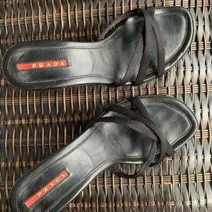 Prada open toe sling back heels sandals size 6